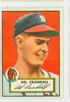 1952 Topps Baseball 162 Del Crandall Boston Braves Excellent to Excellent Plus