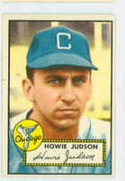 1952 Topps Baseball 169 Howie Judson Chicago White Sox Excellent to Excellent Plus