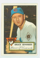 1952 Topps Baseball 224 Bruce Edwards Chicago Cubs Near-Mint