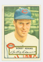 1952 Topps Baseball 249 Bobby Adams Cincinnati Reds Excellent to Excellent Plus