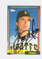 Bob Walk AUTOGRAPH 1992 Topps Pirates 