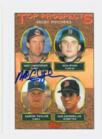 Mike Christopher AUTOGRAPH 1993 Topps Top Prospects Indians 