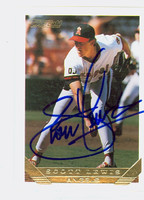 Scott Lewis AUTOGRAPH 1993 Topps Gold Angels 