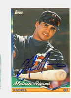 Melvin Nieves AUTOGRAPH 1994 Topps Padres 