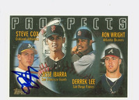 Steve Cox AUTOGRAPH 1996 Topps Prospects Athletics 