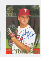 Jonathan Johnson AUTOGRAPH 1996 Topps Draft Pick Rangers 