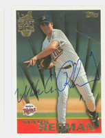 Mark Redman AUTOGRAPH 1996 Topps Draft Pick Twins 