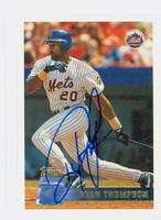 Ryan Thompson AUTOGRAPH 1996 Topps Mets 