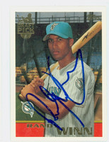 Randy Winn AUTOGRAPH 1996 Topps Draft Pick Marlins 