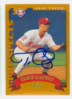 Travis Chapman AUTOGRAPH 2002 Topps Traded Phillies 