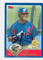 Ben Francisco AUTOGRAPH 2003 Topps Traded Indians 
