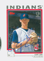 Cliff Lee AUTOGRAPH 2004 Topps Indians 