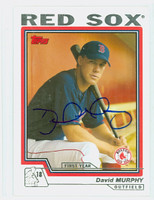 David Murphy AUTOGRAPH 2004 Topps Red Sox 