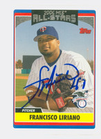 Francisco Liriano AUTOGRAPH 2006 Topps All Star Twins 