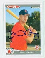 David Murphy AUTOGRAPH 2004 Topps Total Red Sox 