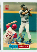 Alex Arias AUTOGRAPH 1994 Topps Stadium Club Marlins 