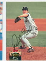 Dave Eiland AUTOGRAPH 1992 Topps Stadium Club Yankees   [SKU:EilaD10314_TPSC92]