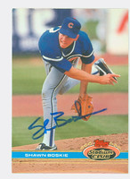 Shawn Boskie AUTOGRAPH 1991 Topps Stadium Club Cubs   [SKU:BoskS6602_TPSC91]
