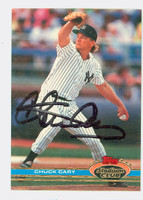 Chuck Cary AUTOGRAPH 1991 Topps Stadium Club Yankees   [SKU:CaryC10265_TPSC91]