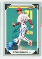 Mickey Morandini AUTOGRAPH 1991 Leaf Phillies 