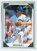 Bob Scanlan AUTOGRAPH 1991 Leaf Cubs 