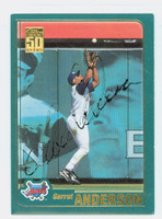 Garret Anderson AUTOGRAPH 2001 Topps Angels 