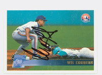 Wil Cordero AUTOGRAPH 1996 Topps Expos 