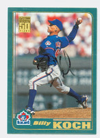 Billy Koch AUTOGRAPH 2001 Topps Blue Jays 