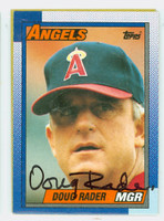 Doug Rader AUTOGRAPH 1990 Topps Angels 
