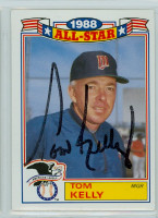 Tom Kelly AUTOGRAPH 1989 Topps Twins Glossy All-Star Insert 