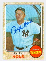 Ralph Houk AUTOGRAPH d.10 1968 Topps #47 Yankees CARD IS VG