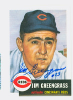 Jim Greengrass AUTOGRAPH Topps 1953 Archives #209 Reds 