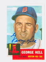 George Kell AUTOGRAPH d.09 Topps 1953 Archives Red Sox 