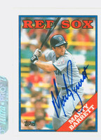 Marty Barrett AUTOGRAPH 1988 Topps Red Sox 