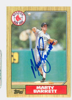 Marty Barrett AUTOGRAPH 1987 Topps #39 Red Sox 