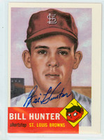 Bill Hunter AUTOGRAPH Topps 1953 Archives Browns 