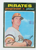 1971 Topps Baseball 73 George Brunet Pittsburgh Pirates Near-Mint Plus