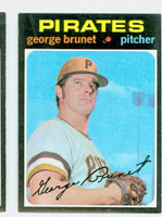 1971 Topps Baseball 73 George Brunet Pittsburgh Pirates Near-Mint to Mint