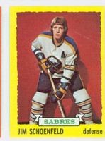 1973-74 Topps Hockey Jim Schoenfeld Buffalo Sabres Near-Mint Plus