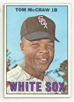 Tommy McCraw AUTOGRAPH 1967 Topps #29 White Sox 