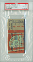 1943 Washington Redskins Ticket Stub vs Green Bay Packers Pre-Season Game -   September 5, 1943 PSA/DNA Authentic Slabbed