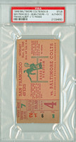 1949 Baltimore Colts Ticket Stub vs San Francisco 49ers AAFC 49ers Frankie Albert 2 TD Passes - 49ers 28-10  November 6, 1949 PSA/DNA Authentic Slabbed