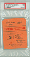 1950 New York Yankees Press Pass vs San Francisco 49ers  - Yanks 29-24  October 12, 1950 Good