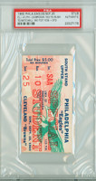 1960 Philadelphia Eagles Ticket Stub vs Cleveland Browns Jim Brown 153 Yards Rushing - Browns 41-24  September 25, 1960 PSA/DNA Authentic Slabbed