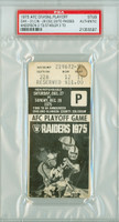1975 AFC Playoff Game Oakland Raiders Ticket Stub vs Cincinnati Bengals Ken Stabler 3 TD Passes Ken Anderson 2 TD Passes  - Raiders 31-28  December 28, 1975 PSA/DNA Authentic Slabbed