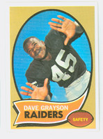 1970 Topps Football 31 Dave Grayson Oakland Raiders Near-Mint Plus