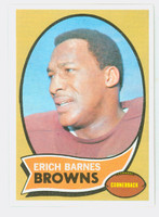 1970 Topps Football 8 Erich Barnes Cleveland Browns Near-Mint to Mint