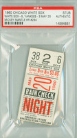 1960 Chicago White Sox Ticket Stub vs New York Yankees Mickey Mantle HR #284 Early Wynn Win #273  - May 20, 1960 [Y60_Whit0520S_pa_38] PSA/DNA Authentic Slabbed