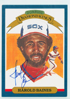 Harold Baines AUTOGRAPH 1986 Donruss Diamond King Supers #13 White Sox 