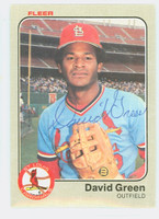 David Green AUTOGRAPH 1983 Fleer #6 Cardinals 